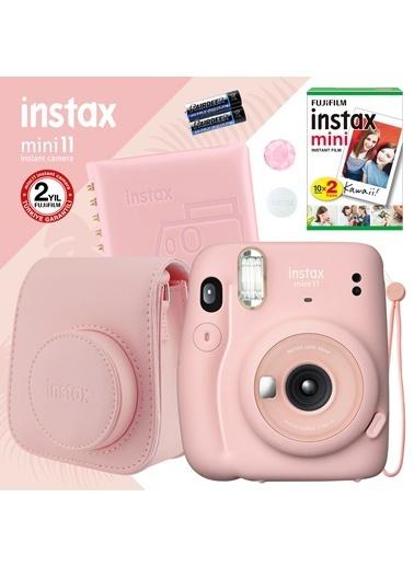 Fujifilm Instax mini 11 Pembe Fotoğraf Makinesi ve Kare Albümlü Hediye Seti 11 Pembe